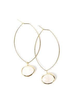 Lenny & Eva Moonstone Ava Gemstone Earrings