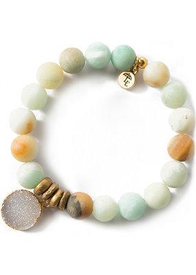 Lenny & Eva 10mm Gemstone Bracelet Amazonite