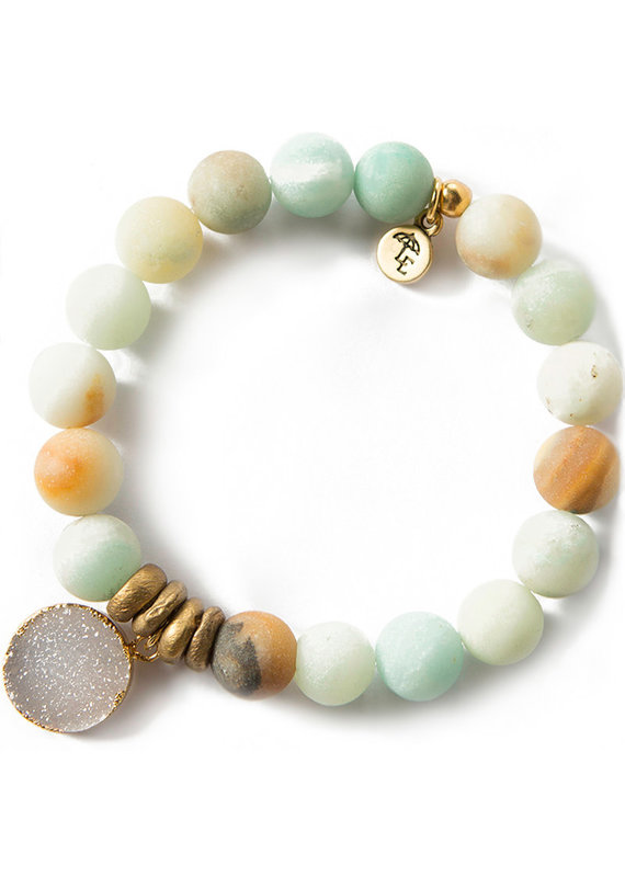 Lenny & Eva 10mm Gemstone Bracelet Amazonite
