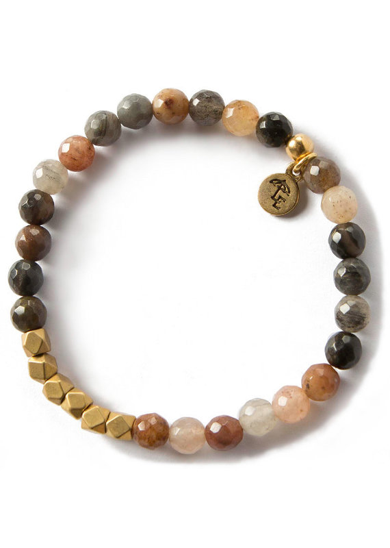 Lenny & Eva 6mm Gemstone Bracelet Fancy Jasper