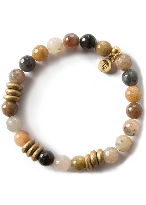 Lenny & Eva 8mm Gemstone Bracelet Fancy Jasper