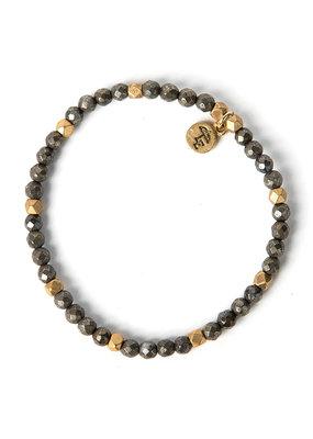 Lenny & Eva 4mm Gemstone Bracelet Pyrite