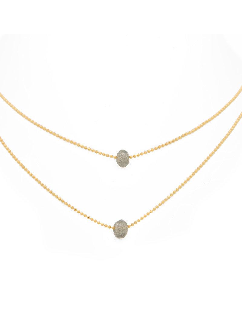 Lenny & Eva Layered Labradorite Gold Necklace