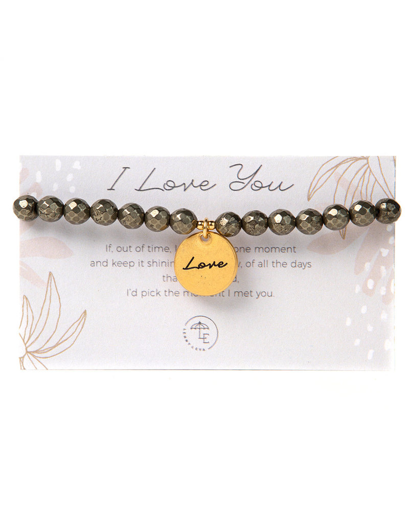 "Lenny & Eva Token Stretch Bracelet ""Love"""