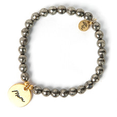 "Lenny & Eva Token Stretch Bracelet ""Mom"""