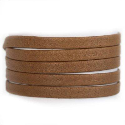 Lenny & Eva Cognac Leather Wrap Bracelet