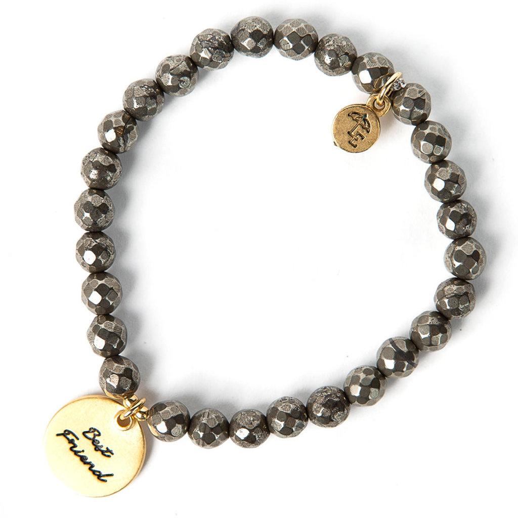"Lenny & Eva Token Stretch Bracelet ""Best Friend"""