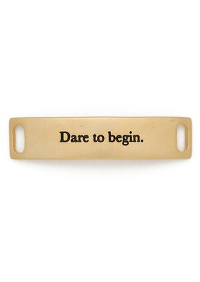 "Lenny & Eva ""Dare to Begin"" Sentiment Gold"