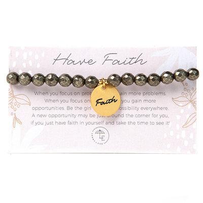 "Lenny & Eva Token Stretch Bracelet ""Faith"""