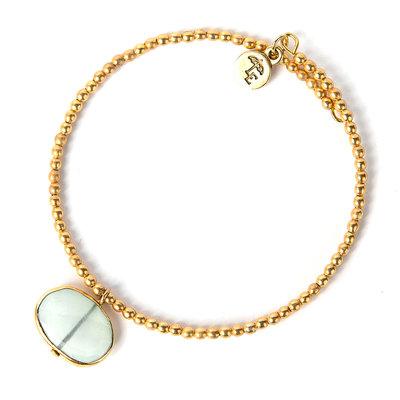 Lenny & Eva Aqua Chalcedony Ava Gemstone Bracelet
