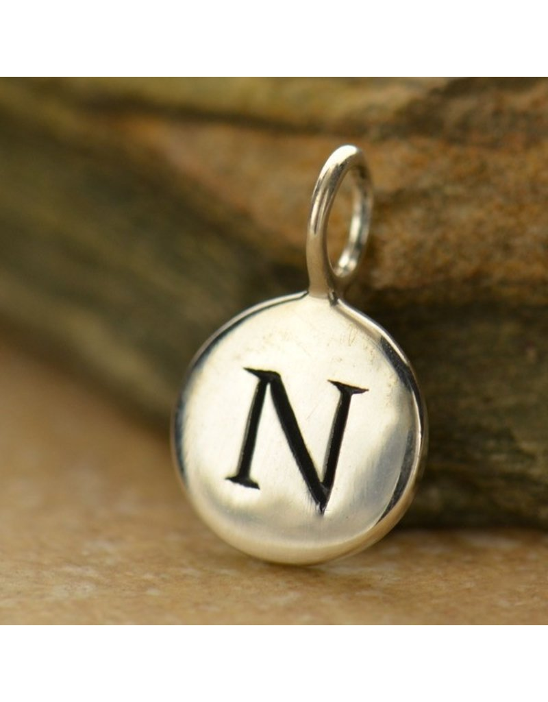 Sterling Silver Initial N Charm
