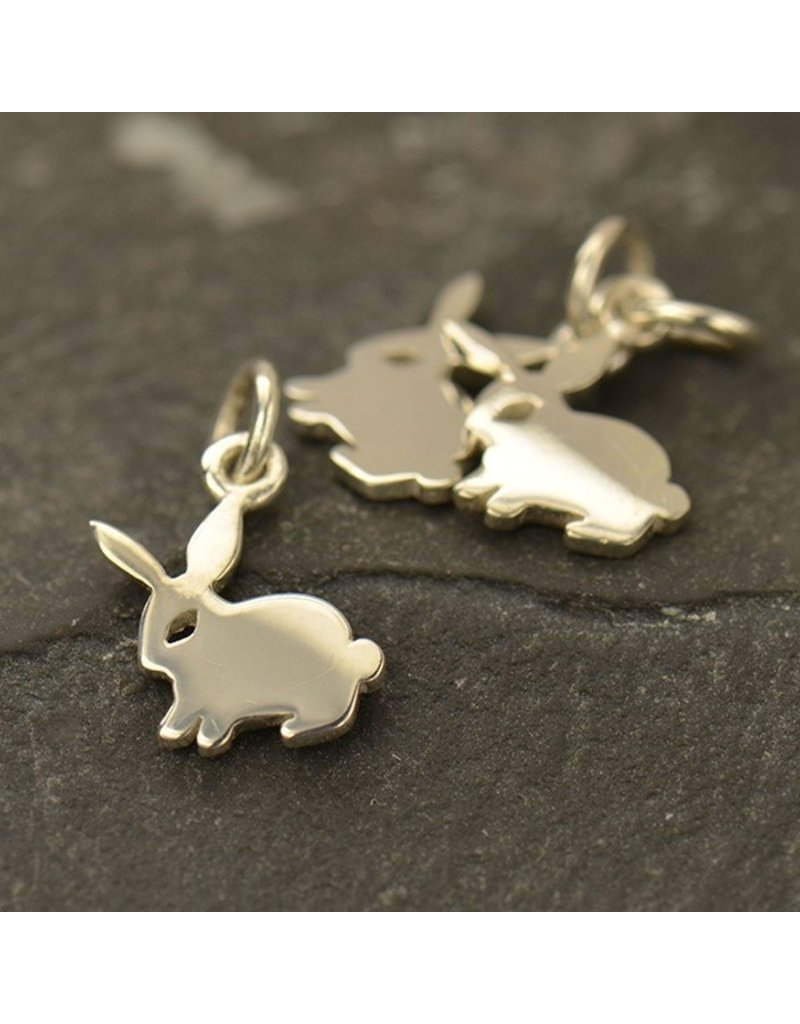 Sterling Silver Flat Bunny Charm