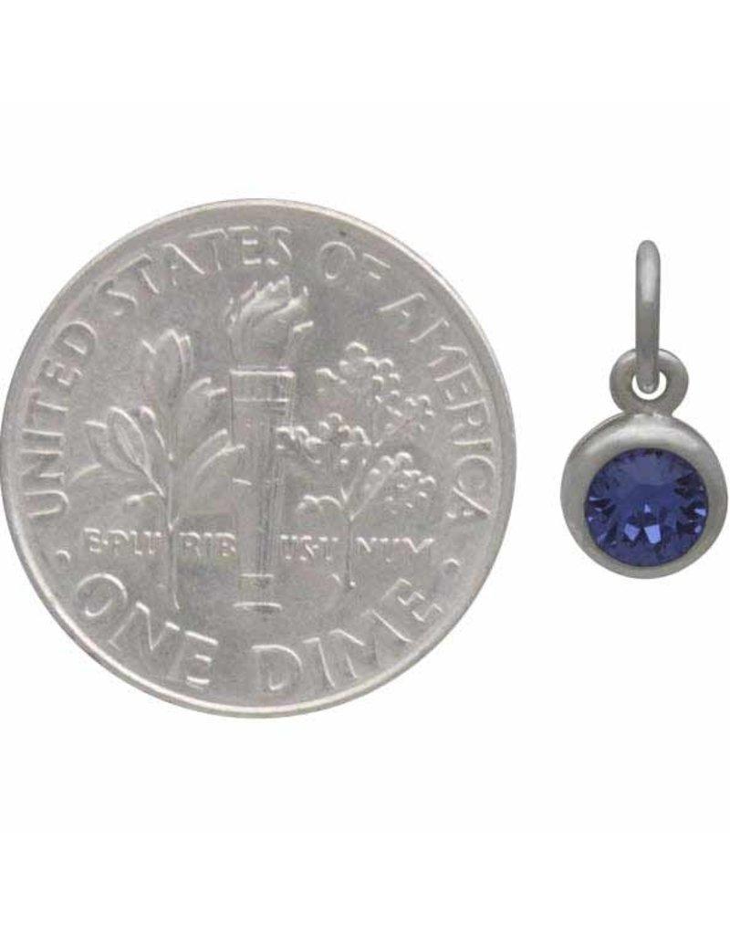 Sterling Silver Swarovski Birthstone September Charm