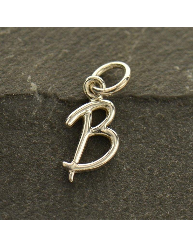 Sterling Silver Initial B Script Charm