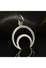 Sterling Silver Wire Cresent Moon Charm