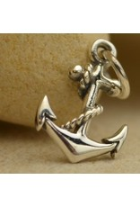 Silver Plated Bronze Anchor Charm