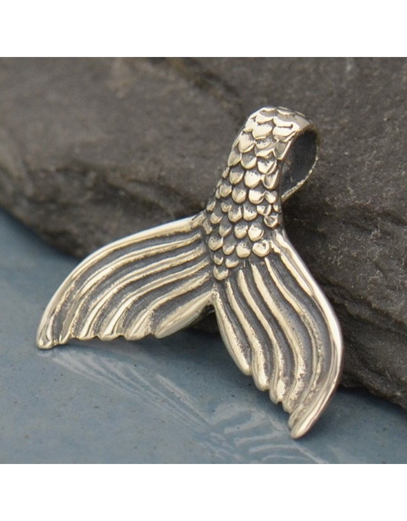 Sterling Silver Mermaid Tail Charm