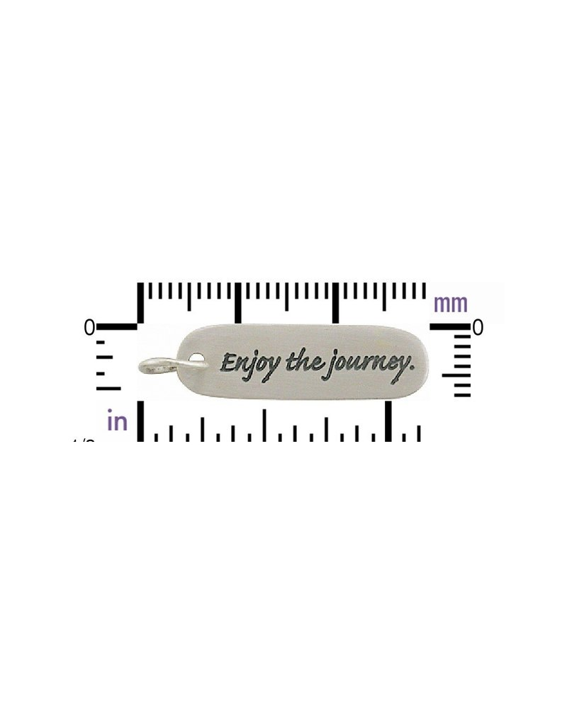 Sterling Silver Enjoy The Journey Charm