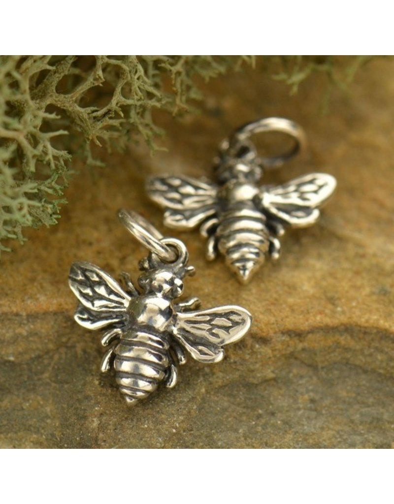 Sterling Silver Small Bee Charm