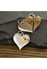 Sterling Silver Bronze Heart Charm