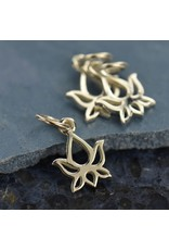 Sterling Silver Tiny Lotus Flower Charm