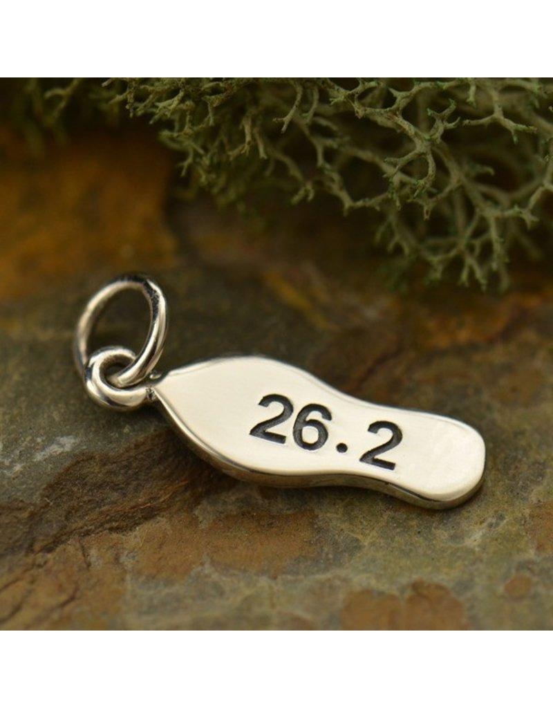Sterling Silver Marathon 26.2 Charm