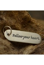 Sterling Silver Follow Your Heart Charm