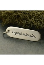 Sterling Silver Expect Miracles Charm