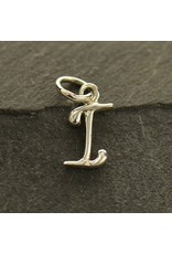 Sterling Silver Initial I Script Charm