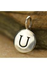 Sterling Silver Initial U Charm