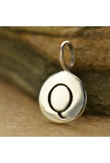 Sterling Silver Initial Q Charm