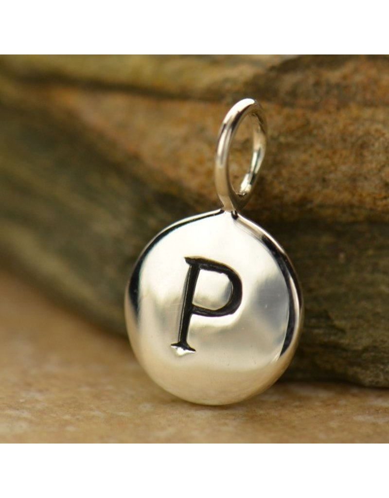 Sterling Silver Initial P Charm