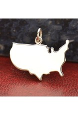 Sterling Silver United States Charm