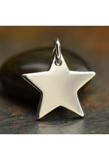 Sterling Silver Large Star Charm