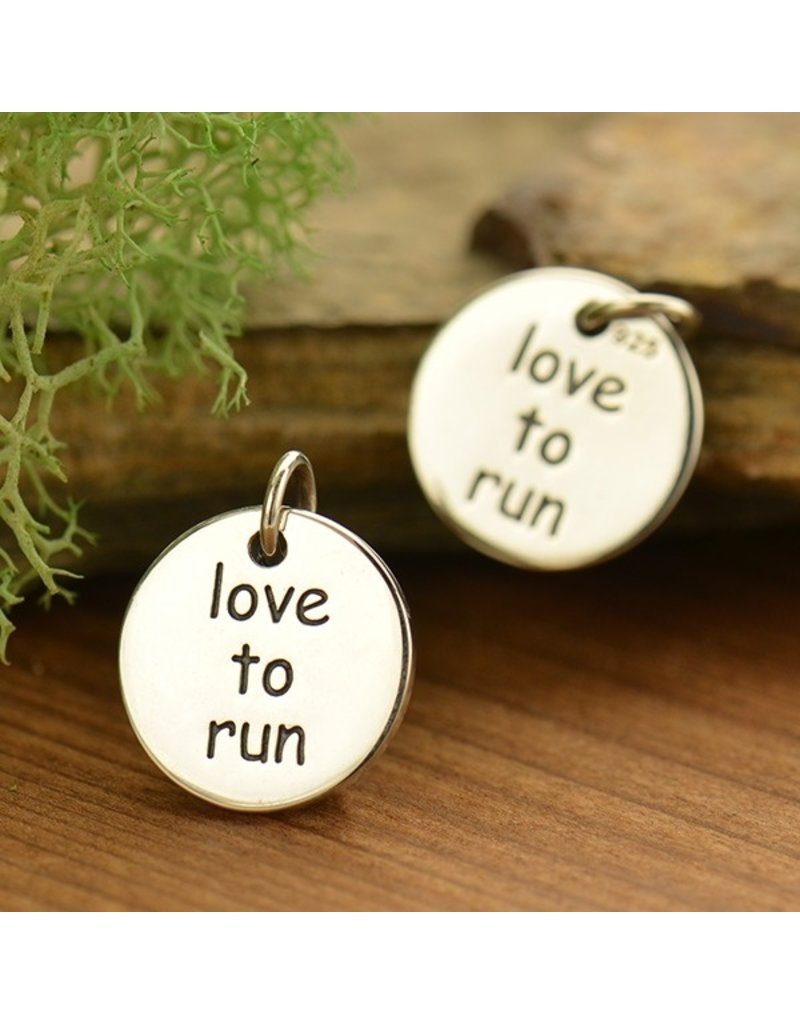 Sterling Silver Love to Run Charm