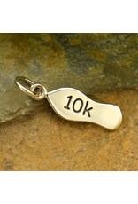 Sterling Silver 10K Running Shoe Charm