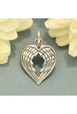 Sterling Silver Wing Heart Charm
