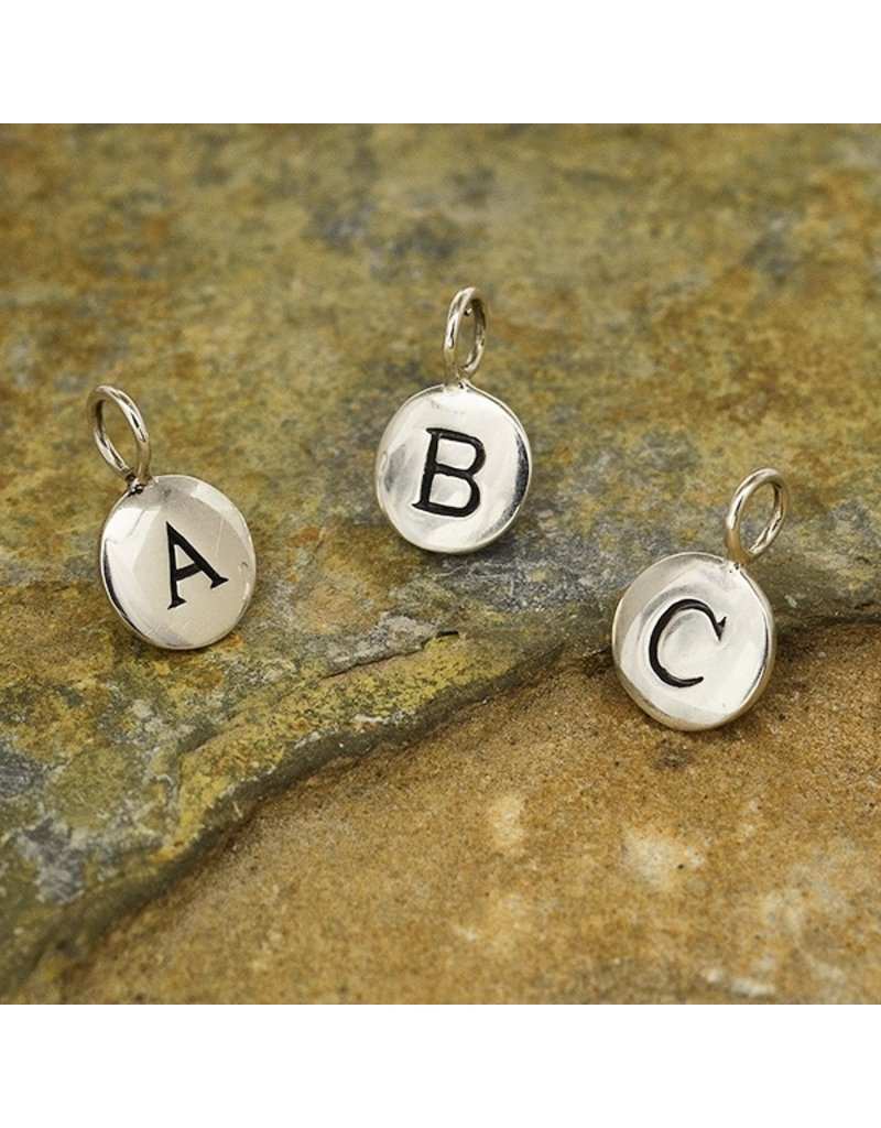 Sterling Silver Initial K Charm