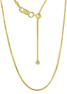 Gold Plated Sterling Franco Adjustable Chain