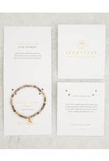 Lenny & Eva 4mm Gemstone Bracelet Silver Leaf Jasper