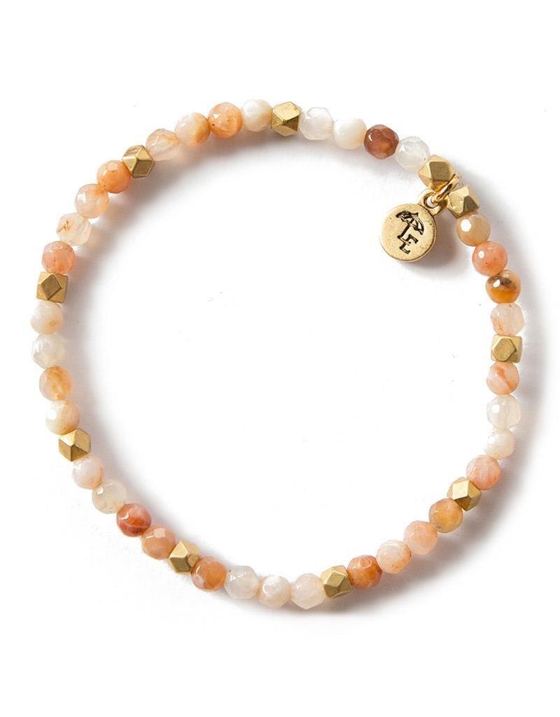 Lenny & Eva 4mm Gemstone Bracelet Rainbow Agate