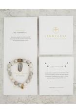 Lenny & Eva Gemstone Bracelet Gray Agate