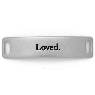 Lenny & Eva Silver Engraved Loved Sentiment