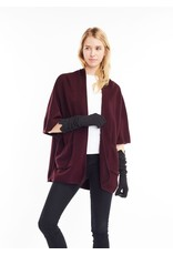 Look By M Basic Raisin Cape Poncho