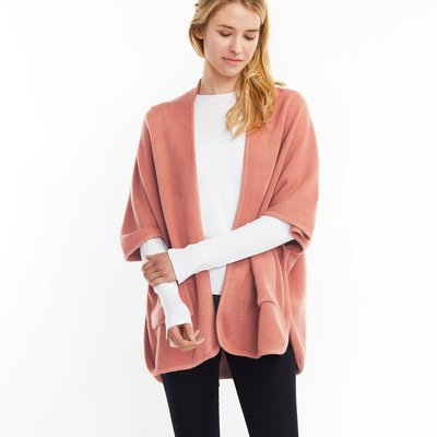 Look By M Basic Rose Cape Poncho