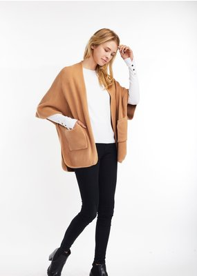 Look By M Basic Camel Cape Poncho