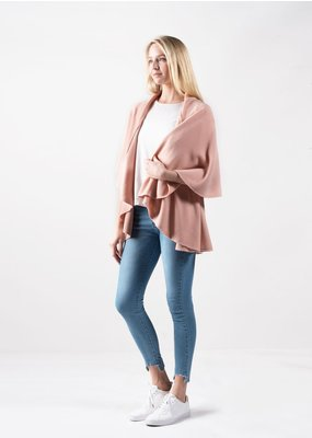 Look By M Basic Blush Shawl Vest