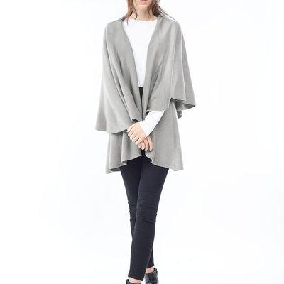 Look By M Basic Grey Shawl Vest