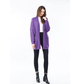 Look By M Everyday Purple Cardigan