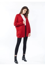 Look By M Everyday Red Cardigan